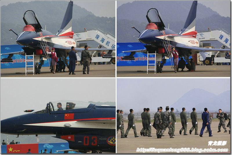 空军八一飞行表演队飞行员驾驶歼10