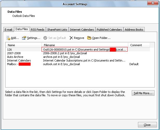 Outlook 2007使用网易IMAP服务,并且改变 pst文件保存路径-只谈