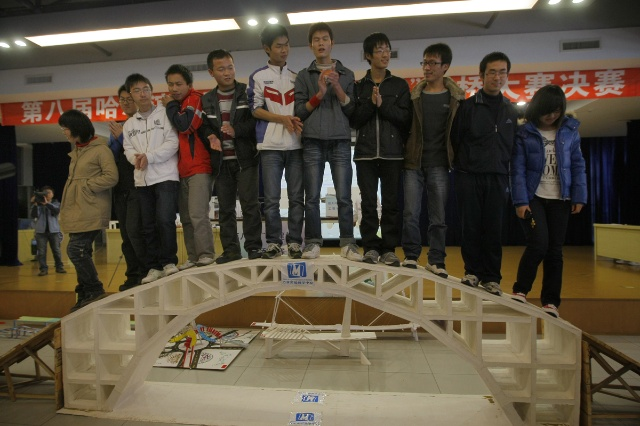 一张a4纸纸桥承重设计图展示图片