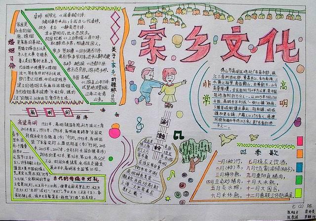 小学生家乡特产手抄报内容|小学生家乡特产手抄报版面设计