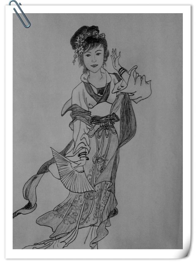 古代仙女古装素描画 - 第3页