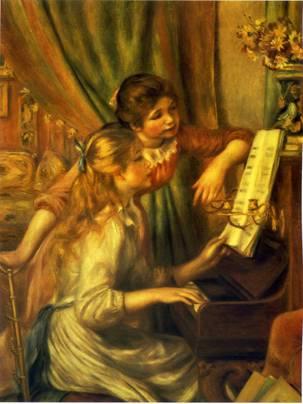 古风白衣女子弹琴图