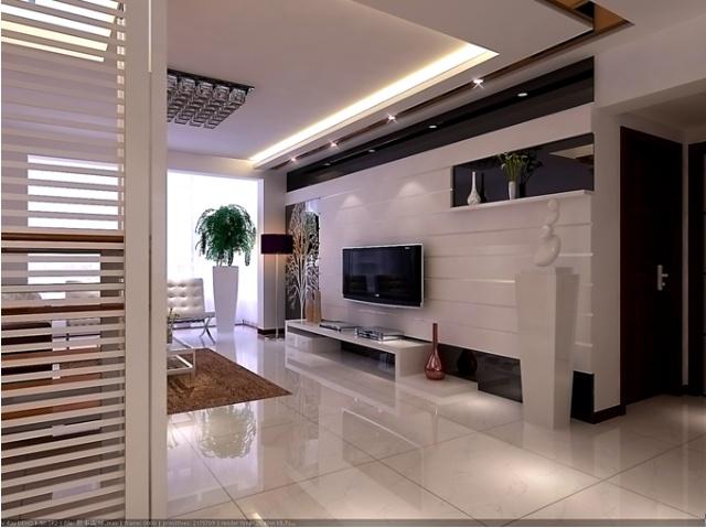 瓷砖菱形贴电视背景墙效果图 欧式客厅电视背景墙微 .