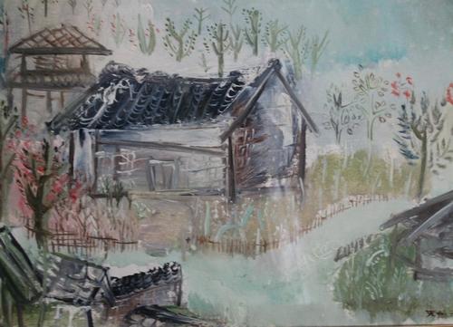 赵无极早年画的杭州风景