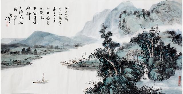 著名山水画家谭红专作品赏析