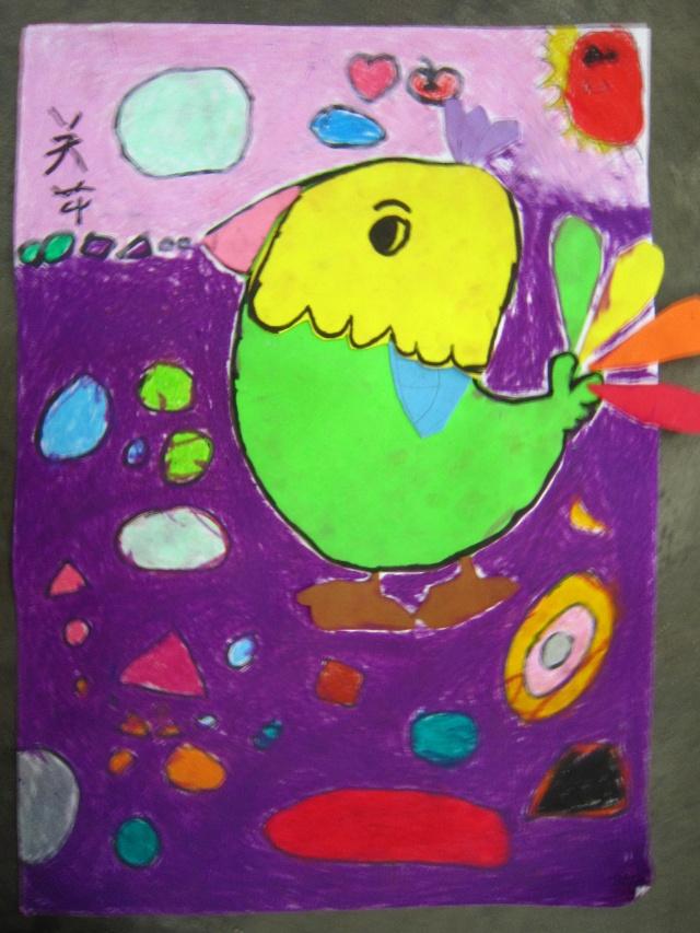 2011年1月12日(海绵纸)小鸟
