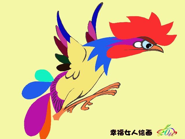 【原创绘画·博文】推出我的系列装饰画《锦鸡图》一