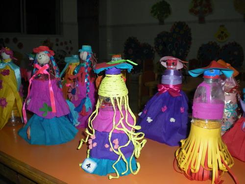 亲子制作:瓶子娃娃图片